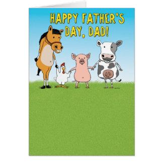 おもしろいな父の日カード: 納屋で上げられる カード