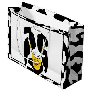 おもしろいな牛大きいチーズボスLGB ラージペーパーバッグ