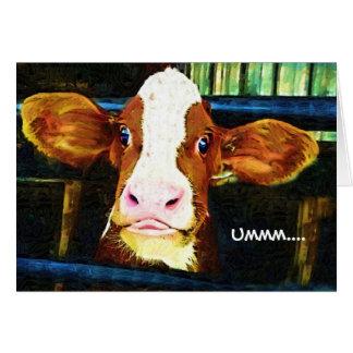 おもしろいな牛顔 カード