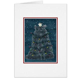 おもしろいな猫のクリスマスカード カード