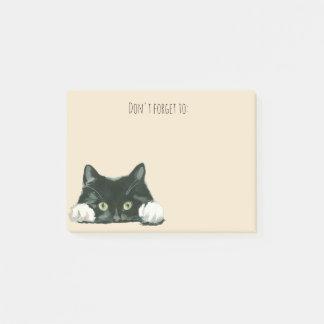 おもしろいな猫のポスト・イットの黒猫 ポストイット