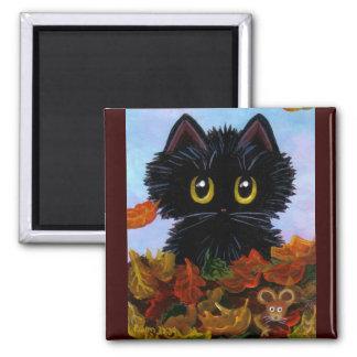 おもしろいな猫のマウスの紅葉Creationarts マグネット