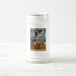 おもしろいな猫のマグ ビールジョッキ
