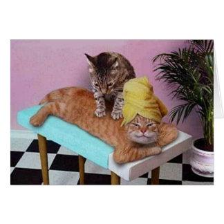 おもしろいな猫のマッサージ カード