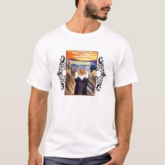 おもしろいな猫の芸術-叫びのTシャツ Tシャツ