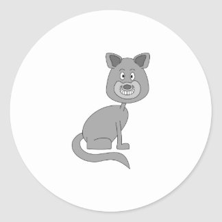 おもしろいな猫 ラウンドシール