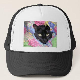 おもしろいな猫: 毛布-トラック運転手の帽子で包まれた キャップ