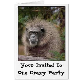 おもしろいな猿のパーティの招待状 カード