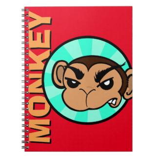 おもしろいな猿の螺線形ノート ノートブック