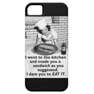 おもしろいな男女同権主義者は私にサンドイッチをします iPhone 5 カバー