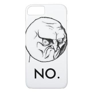 """おもしろいな白""""いいえ""""ミーム iPhone 8/7ケース"""