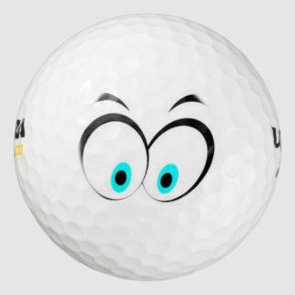 おもしろいな目 ゴルフボール