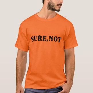 おもしろいな確実ではない刑務所のスタイル Tシャツ