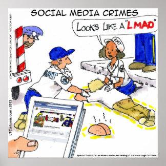 おもしろいな社会的な媒体の罪ポスター ポスター