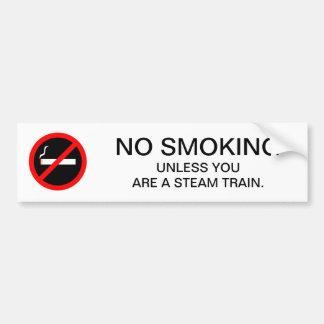 おもしろいな禁煙の印の蒸気の列車 バンパーステッカー