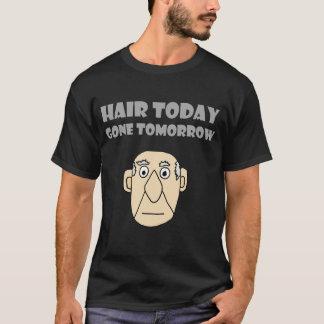 おもしろいな禿げた人の毛の今日明日行ったワイシャツ Tシャツ