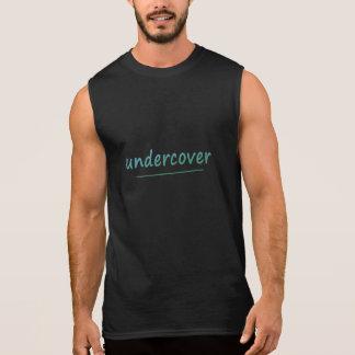 おもしろいな秘密の光沢があるターコイズの文字すべての色 袖なしシャツ