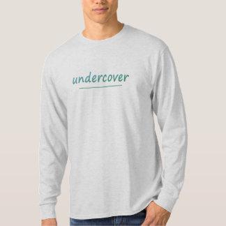 おもしろいな秘密の光沢があるターコイズの文字すべての色 Tシャツ