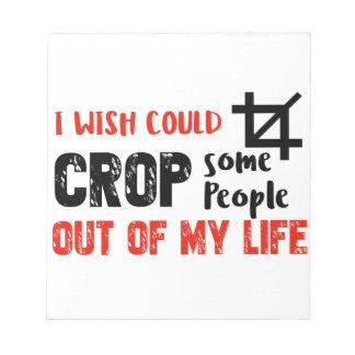 おもしろいな穀物の人々のギークのデザイン ノートパッド