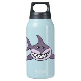 おもしろいな笑った灰色の鮫の漫画 断熱ウォーターボトル