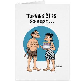 おもしろいな第31誕生日の挨拶 カード