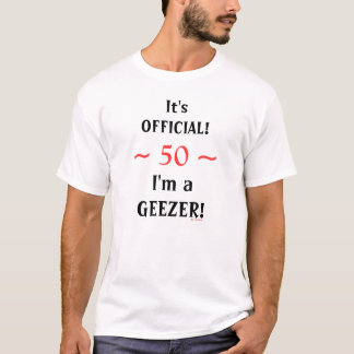 おもしろいな第50第60誕生日の公式の変わり者のTシャツ Tシャツ