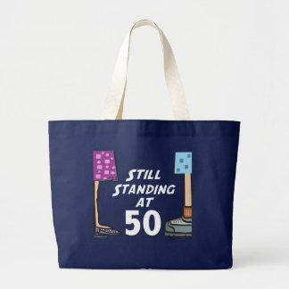 おもしろいな第50誕生日のバッグ ラージトートバッグ
