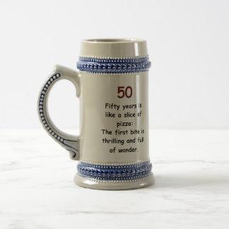 おもしろいな第50誕生日のマグ ビールジョッキ