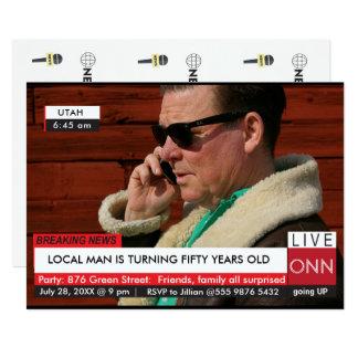 おもしろいな第50誕生日の最新ニュースTVのグラフィック カード