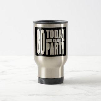 おもしろいな第80誕生日: 80今日パーティを楽しむために用意すれば トラベルマグ