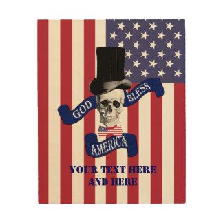 おもしろいな米国旗 ウッドウォールアート
