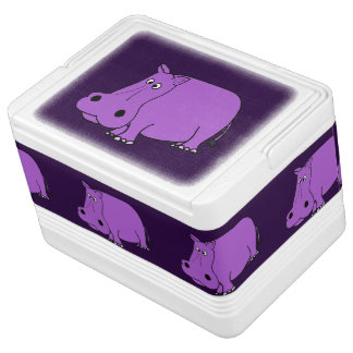 おもしろいな紫色のカバの漫画 イグルークーラーボックス