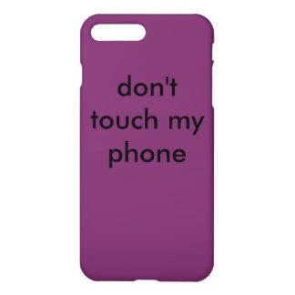 おもしろいな紫色のiphoneの箱 iPhone 8 plus/7 plusケース