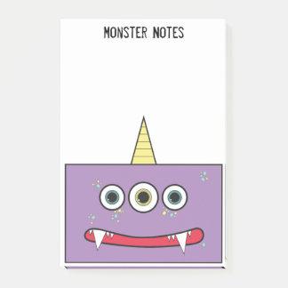 おもしろいな紫色モンスター ポストイット