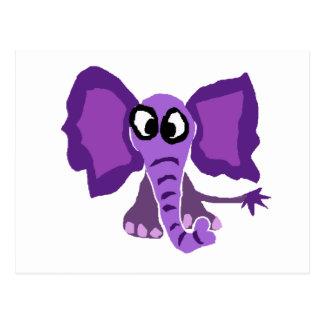 おもしろいな紫色象の原住民の芸術 ポストカード