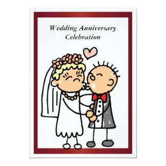 おもしろいな結婚記念日の招待状 カード