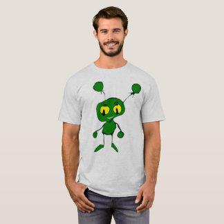 おもしろいな緑の外国の人のワイシャツ Tシャツ