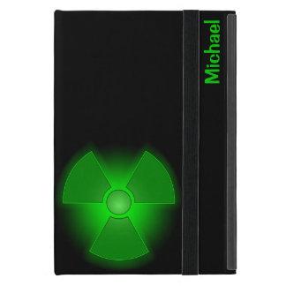 おもしろいな緑の白熱[赤熱]光を放つな放射能の記号 iPad MINI ケース