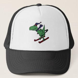 おもしろいな緑のTrexの恐竜のスキー キャップ