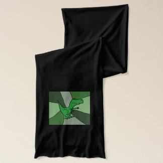 おもしろいな緑のTrexの恐竜の芸術 スカーフ