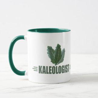 おもしろいな緑葉カンラン マグカップ