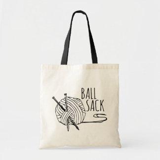 おもしろいな編み物の球袋 トートバッグ