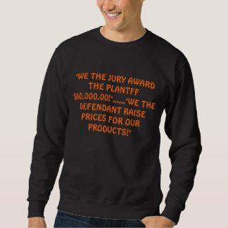 おもしろいな罪があるスエットシャツ スウェットシャツ