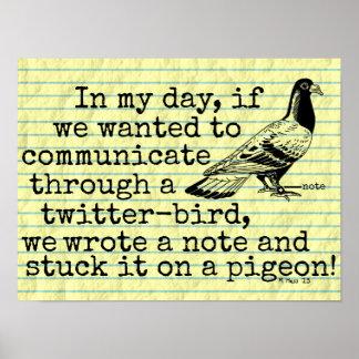 おもしろいな老齢期のTwitterの鳥ハト ポスター