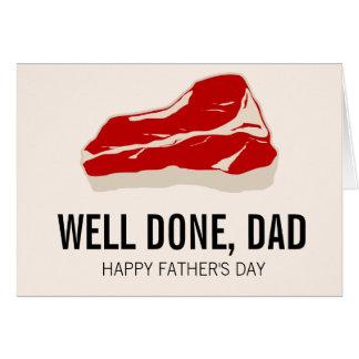 おもしろいな肉Father日カード グリーティングカード
