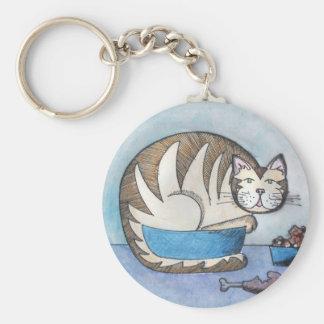 おもしろいな脂肪質猫のカスタムなキーホルダー キーホルダー