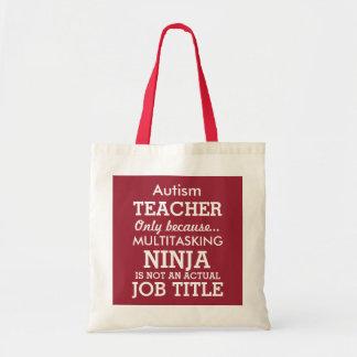 おもしろいな自閉症スペシャルは先生を必要とします トートバッグ