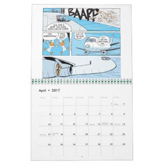 おもしろいな航空漫画のカレンダー カレンダー