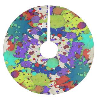 おもしろいな色のしぶきI + あなたのbackgr。 及びアイディア ブラッシュドポリエステルツリースカート