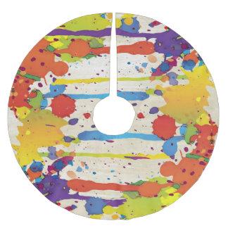 おもしろいな色のしぶきII + あなたのbackgr。 及びアイディア ブラッシュドポリエステルツリースカート